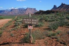 Estrada do rancho Imagem de Stock