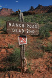 Estrada do rancho fotografia de stock