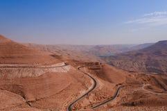 Estrada do rei em Jordão Imagem de Stock