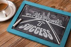 Estrada do sucesso Imagens de Stock Royalty Free