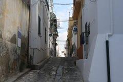 Estrada do tijolo de Bernalda Itália Fotografia de Stock