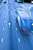 Estrada do tráfego com caminhão Foto de Stock