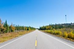 Estrada do transporte Canadá Fotografia de Stock