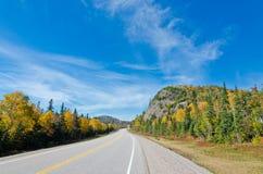 Estrada do transporte Canadá Imagem de Stock