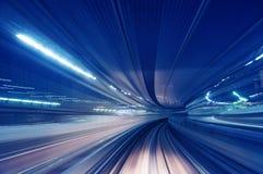 Estrada do trem do borrão de movimento Imagem de Stock Royalty Free