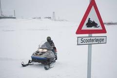 Estrada do 'trotinette' da neve - ártico, Spitsbergen Imagem de Stock Royalty Free