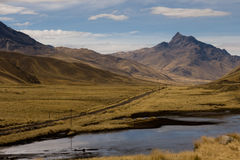 Estrada do vale da montanha Imagem de Stock