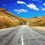 Estrada do vale de Cardrona foto de stock