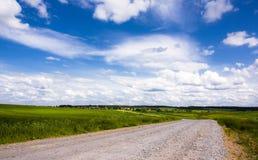 Estrada do verão imagens de stock