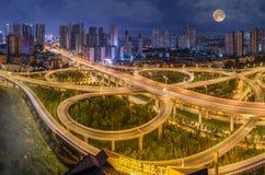 Estrada do viaduto do anel de Wuhan 2rd foto de stock