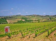 Estrada do vinho de Chianti, Toscânia, Italy fotos de stock