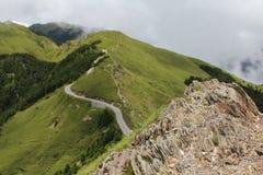 Estrada do Wiggle na montanha de Hehuan de Formosa Fotos de Stock Royalty Free