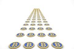 Estrada dos bitcoins Imagem de Stock Royalty Free