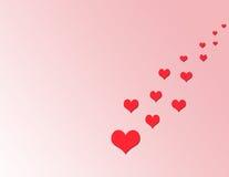 A estrada dos corações Imagens de Stock