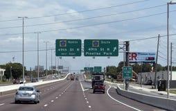 Estrada dos E.U. 19 na rua Florida da junção 49th Foto de Stock