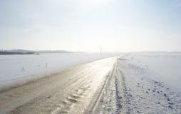 Estrada dos invernos Imagem de Stock