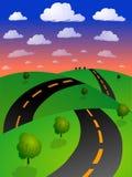 Estrada dourada do cipreste Imagens de Stock Royalty Free