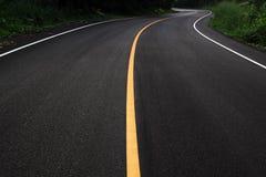 Estrada dramática da curva Foto de Stock Royalty Free