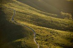 Estrada dramática no por do sol Imagem de Stock Royalty Free