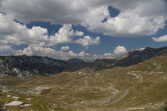 Estrada Durmitor da montanha imagens de stock