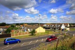 A259 estrada Dymchurch Kent Reino Unido Imagens de Stock