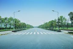 estrada e céu Foto de Stock