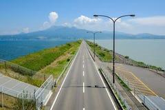 Estrada e céu Fotos de Stock