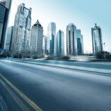 Estrada e cidade Fotografia de Stock