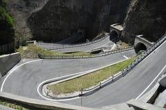 Estrada e curvas Imagens de Stock Royalty Free