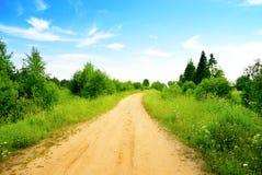 Estrada e dia de verão perfeito Fotografia de Stock