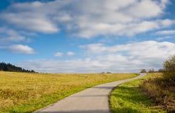 Estrada e horizonte Foto de Stock