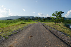 A estrada e o céu azul Fotografia de Stock Royalty Free