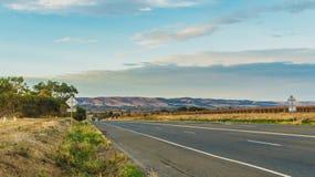 A estrada e o vinhedo Fotos de Stock