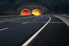Estrada e túnel Imagens de Stock