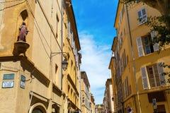 Estrada em Aix en Provence, França Fotografia de Stock