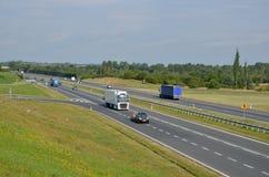 Estrada A4 em Chrzanow, Polônia Fotos de Stock