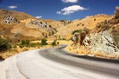 Estrada em crete Imagem de Stock Royalty Free