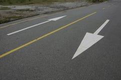 Estrada em dois sentidos Fotografia de Stock