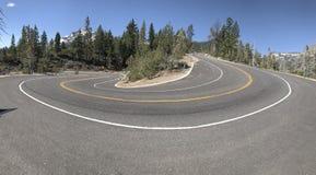 Estrada em forma de u foto de stock