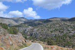 Estrada em Grécia Fotografia de Stock Royalty Free