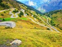 Estrada em montanhas de Pyrenees Fotografia de Stock Royalty Free