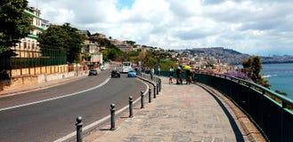 Estrada em Nápoles foto de stock