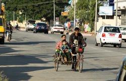 Estrada em Naypyitaw, Myanmar Fotografia de Stock Royalty Free