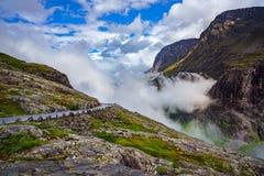 Estrada em Noruega Foto de Stock Royalty Free