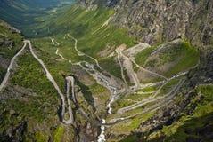 Estrada em Noruega Fotografia de Stock
