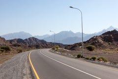 Estrada em Omã, Médio Oriente Foto de Stock Royalty Free