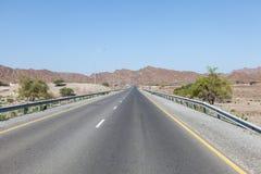 Estrada em Omã, Médio Oriente Imagem de Stock