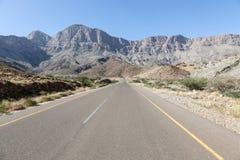 Estrada em Omã, Médio Oriente Fotos de Stock Royalty Free