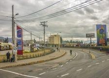 Estrada em partes externas de Quito Fotos de Stock