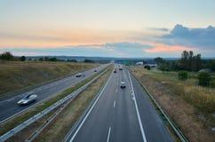 Estrada A4 em Rudno, Polônia Fotos de Stock Royalty Free